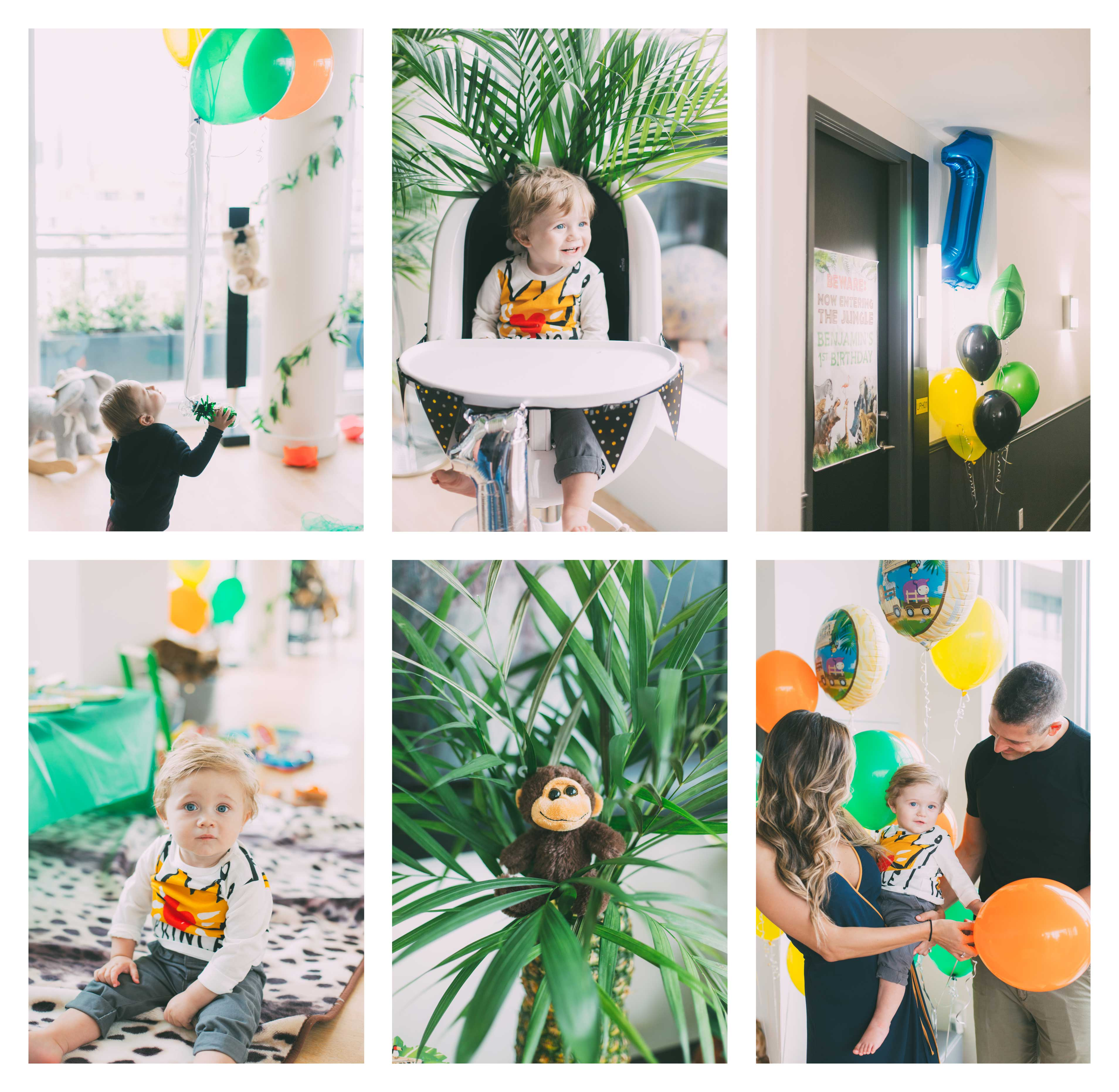 BEWARE Now Entering the Jungle: Benjamin's 1st Birthday Party